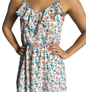 Lush short dress White and flower print on Tradesy