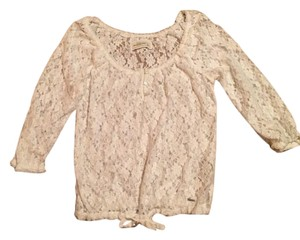 Abercrombie & Fitch Peasant Style Henley Lace Sweater