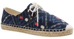 J.Crew J Crew Canvas Sneakers Size 7 Navy Blue Flats