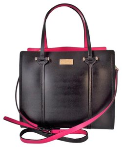 Kate Spade Black Pink Leather Shoulder Bag