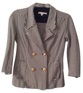 CAbi Stripes Navy And White Blazer