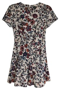 Topshop short dress Flower print Floral on Tradesy