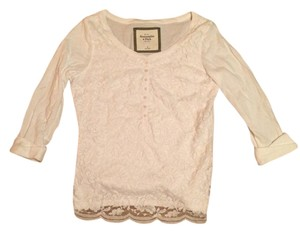 Abercrombie & Fitch Lace Henley Style 3/4 Sleeve Sweater