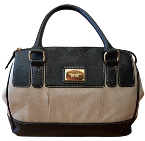 Tignanello Satchel in Navy and gray