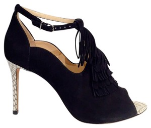 Alexandre Birman Black w/snake trim Pumps