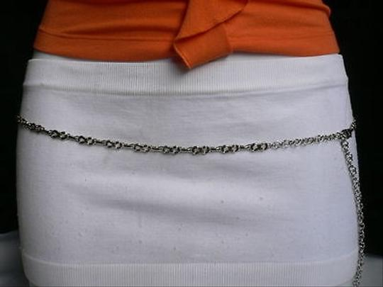 Other Women Silver Metal Ultra Thin 0.25 Fashion Metal Chains Belt 27-40