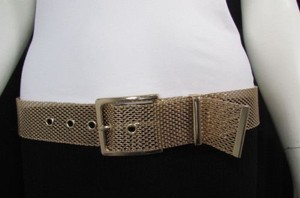 Other Women Wide Hip Waist Gold Mesh Metal Full Length Fashion Belt 32-36