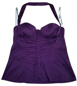 Marciano Halter Sexy Cleavage Night Out Purple Halter Top