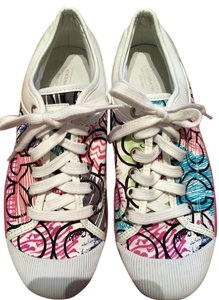Coach Sporty Size 8 Sneakers Multi color with white trim Flats