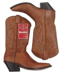 Mezcalero Leather Cowboy cinnamon Boots