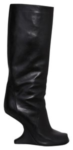 Rick Owens Made In Italy Gothic Avant-garde Sculptural Luxury Black Boots