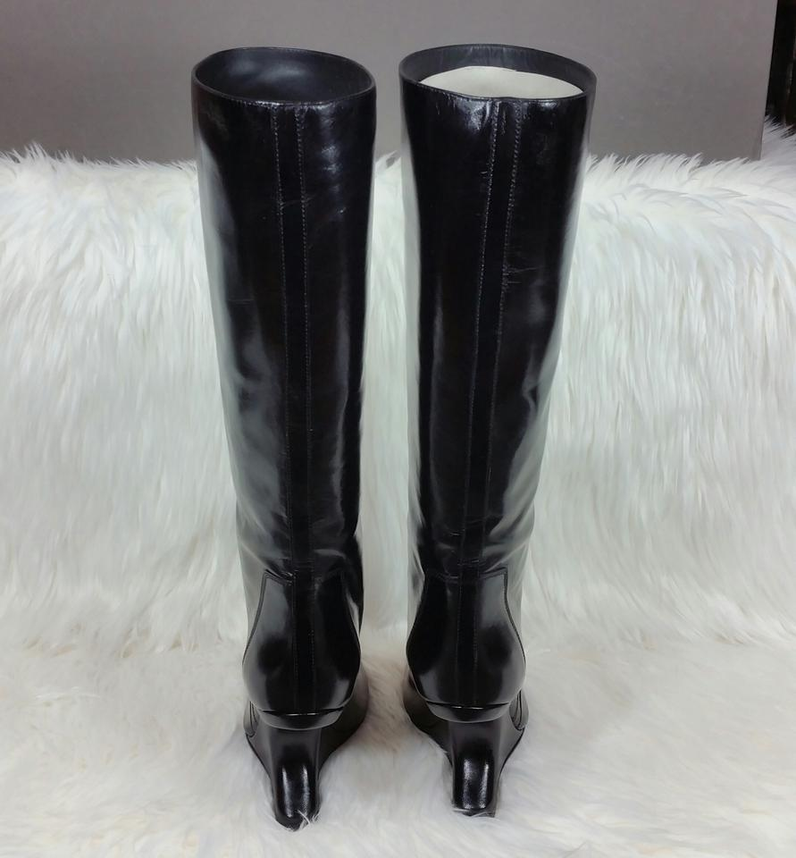8f057fdeff81 Rick Owens Black Cyclops Cantilevered Open Boots Booties Size US 6.5  Regular (M