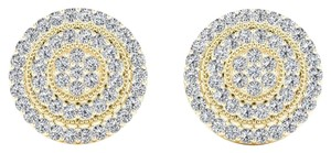Elizabeth Jewelry 10Kt Yellow Gold 0.23 Ct Diamond Halo Stud Earrings