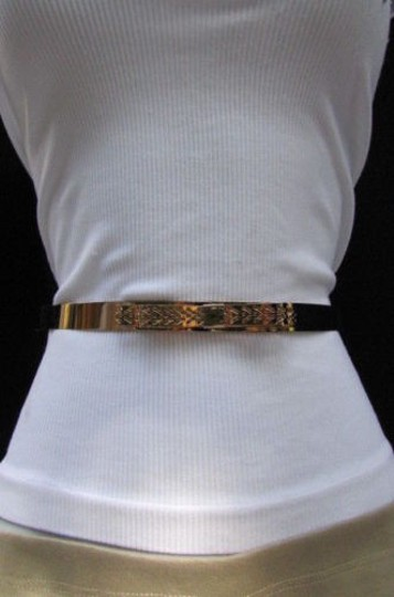 Other Women Fashion Gold Metal Bow Thin Plate Belt Hip High Waist