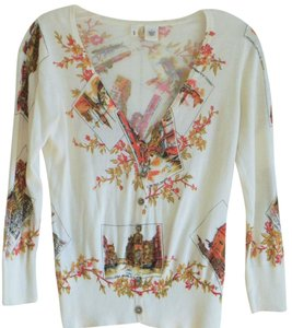 Anthropologie Italian Moth V-neck Retro Cardigan