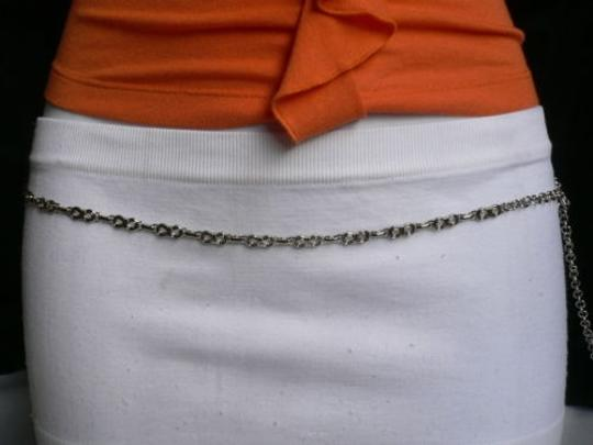 Other Women Silver Metal Ultra Thin 0.25 Fashion Metal Chains Belt 27-40 Sxl