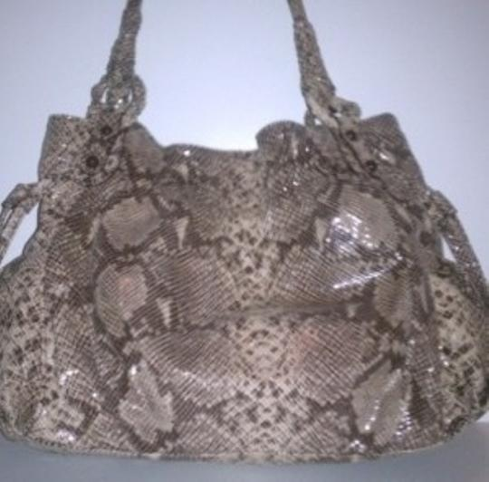 Orvieto by Estelle park Python Embossed Leather Hobo Bag