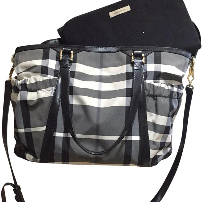 Item - Black/White Nylon Diaper Bag