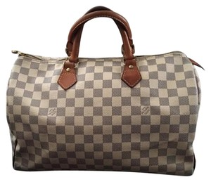 Louis Vuitton Damier Canvas Azur Doctor Damier Satchel in Damier Azur