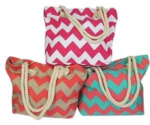 Other Women Fashion Large Hobo Big Fabric Beach Chevron Print Rope Starp Cross Body Bag