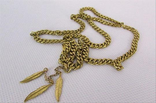Other Women Gold Metal Head Band Chain Dangle Leaves Fashion Jewelry Back Front