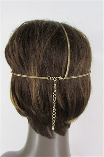 Other Women Gold Metal Classic Head Band Basic Chain Fashion Jewelry Stylih Look