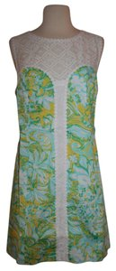 Lilly Pulitzer short dress Yellow Beach on Tradesy
