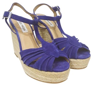 Steve Madden Blue, Tan Wedges