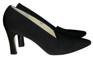LARRY STUART COLLECTION Handcrafted Shoe BLACK Pumps