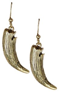 Jules Smith Jules Smith Burnished Textured Tusk Earrings