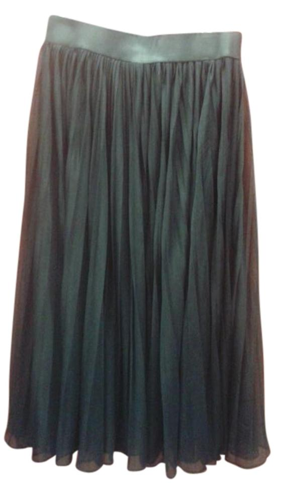 beb31ae3b9 Carmen Marc Valvo Black Semi-sheer Pleated Skirt Cover-up/Sarong. Size: 10  ...