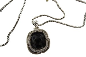 David Yurman Labyrinth 20x16mm Black Onyx with Pave' Diamonds Enhancer; 24