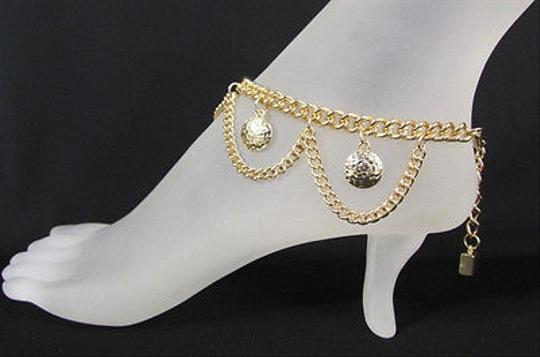 Other Women Gold Metal Anklet Leg Foot Chains Body Jewelry Multi Coins Dancing