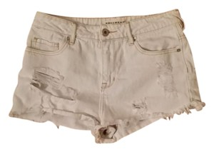 Bullhead Denim Co. Cut Off Shorts White Wash