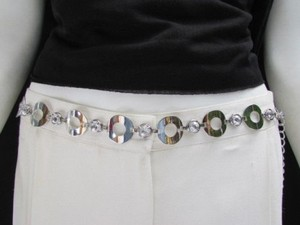 Other Women Hip Waist Silver Beads Metal Chains Mini Circles Fashion Belt