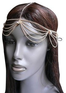 Other Women Head Metal Chain Fashion Gold Jewelry Grecian Circlet Big Silver Beads