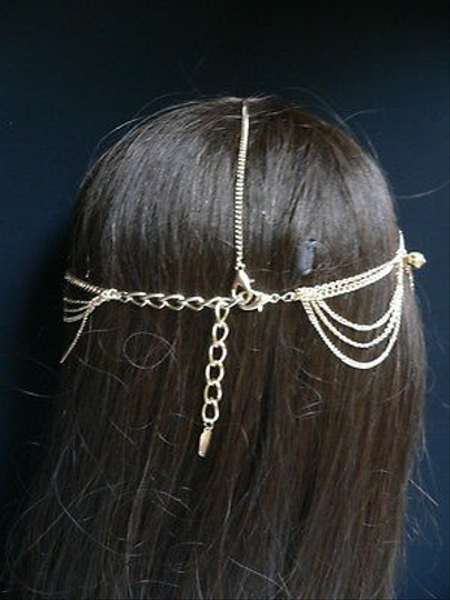 Other Women Head Chain Gold Jewelry Grecian Circlet Big Silver Beads
