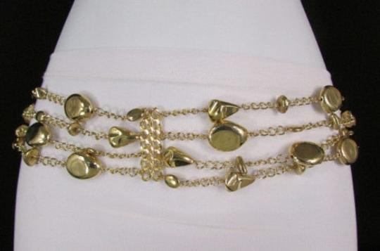 Other Women Gold Metal Chains Strands Drops Links Fashion Belt 25-43