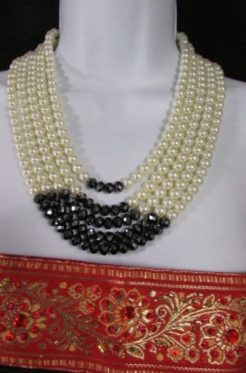 Other Women Strands Necklace Imitation Pearl Beads 18 Long Earring Set