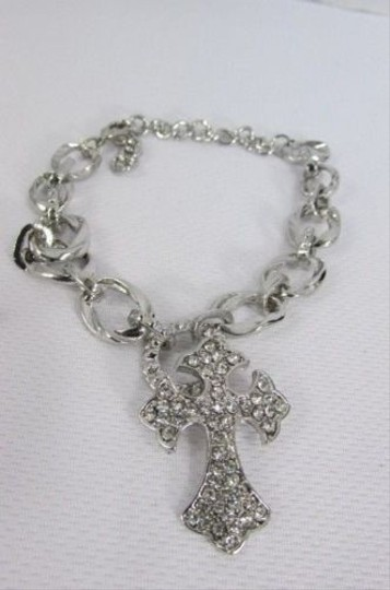 Other Women Chunky Thick Chains Silver Boots