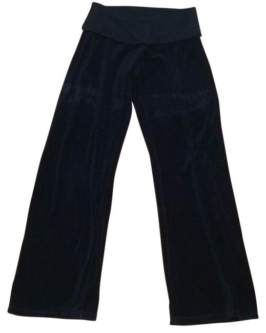 Juicy Couture Navy Velour Fold Over Wide Leg Pants Size 12 L 32 33 Tradesy