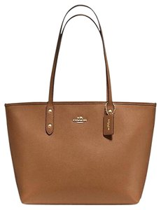 Coach Brown Tote in Saddle