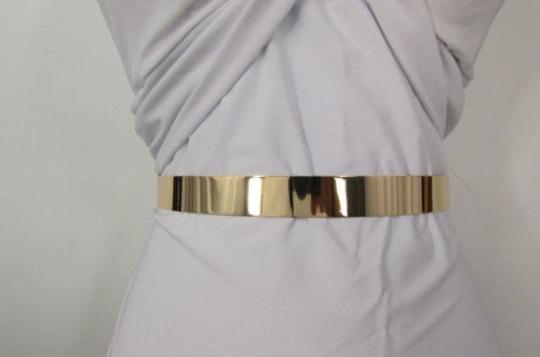 Other Women Low Hip High Waist Narrow Gold Metal Plate Fashion Belt 27-36