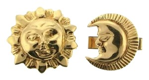 Other VERY COOL -14K gold man-in-the sun and moon cuff links