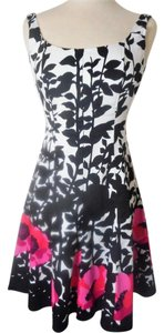 Nine West short dress Black/White Cotton on Tradesy