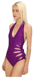 Jean-Paul Gaultier Jean Paul Gaultier Halter Cut Out Rosette Swimsuit