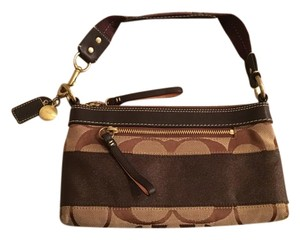 Coach Jacquard Striped Shoulder Bag