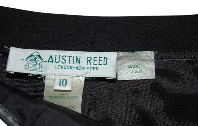 Austin Reed Black Made In Usa Worsted Wool Pleated Skirt Size 10 M 31 Tradesy