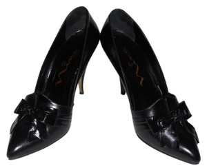 Nina Quality Leather Unique Style Upscale BLACK Pumps