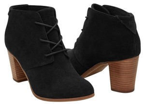 TOMS Suede Lace Up Black Boots